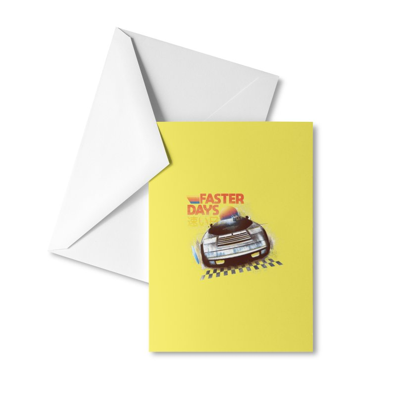Faster Days Accessories Greeting Card by Dega Studios