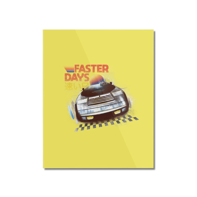 Faster Days Home Mounted Acrylic Print by Dega Studios