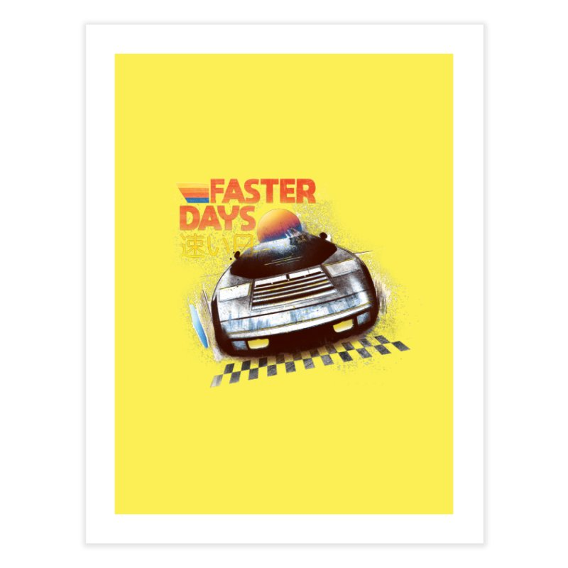 Faster Days Home Fine Art Print by Dega Studios