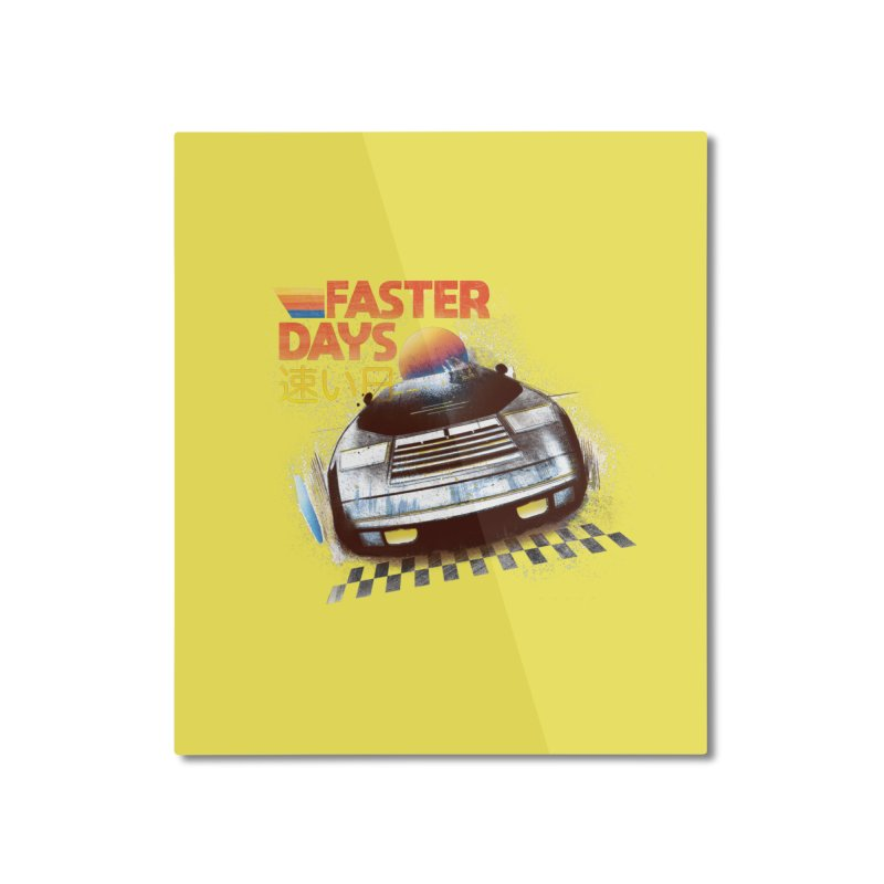 Faster Days Home Mounted Aluminum Print by Dega Studios