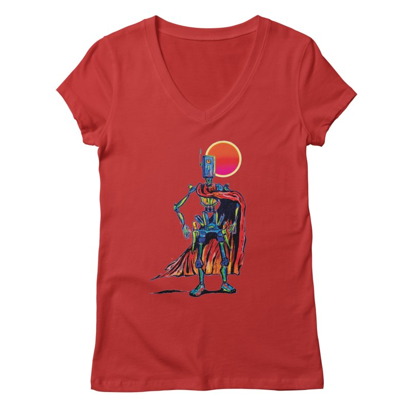 High Noon Women's V-Neck by Dega Studios