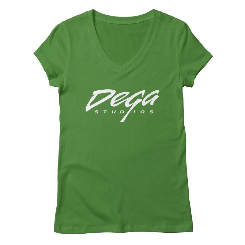 Dega Classic Logo – Dark Women's V-Neck by Dega Studios