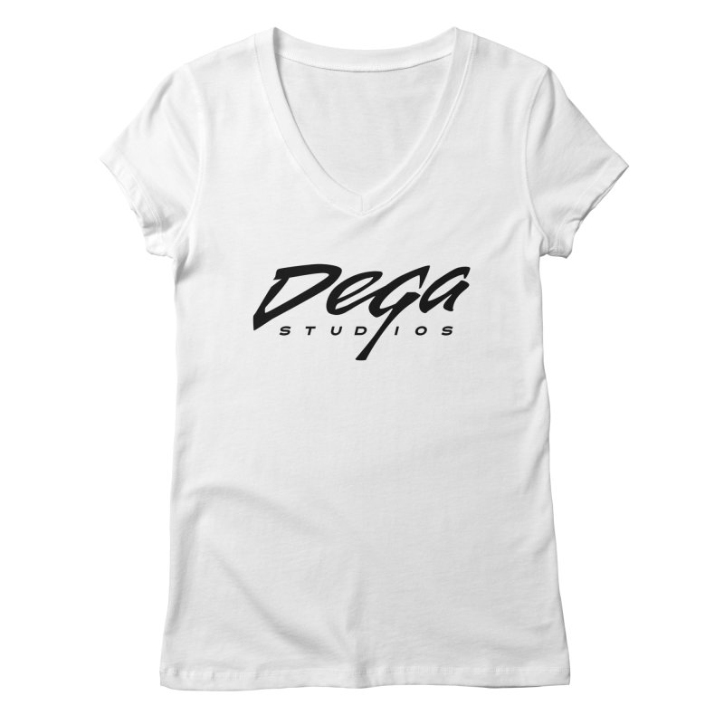Dega Classic Logo – Light Women's V-Neck by Dega Studios