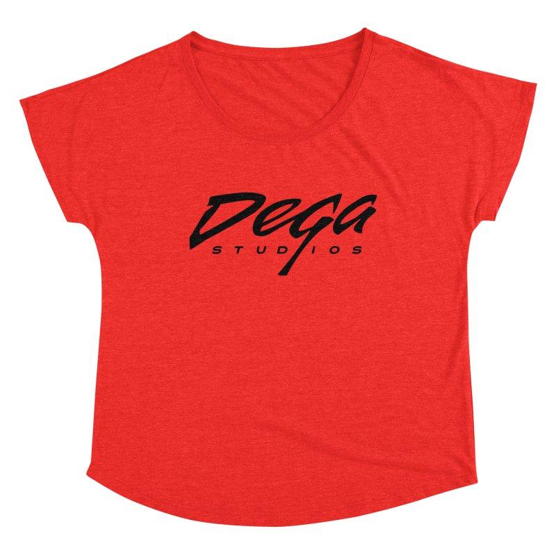 Dega Classic Logo – Light Women's Scoop Neck by Dega Studios