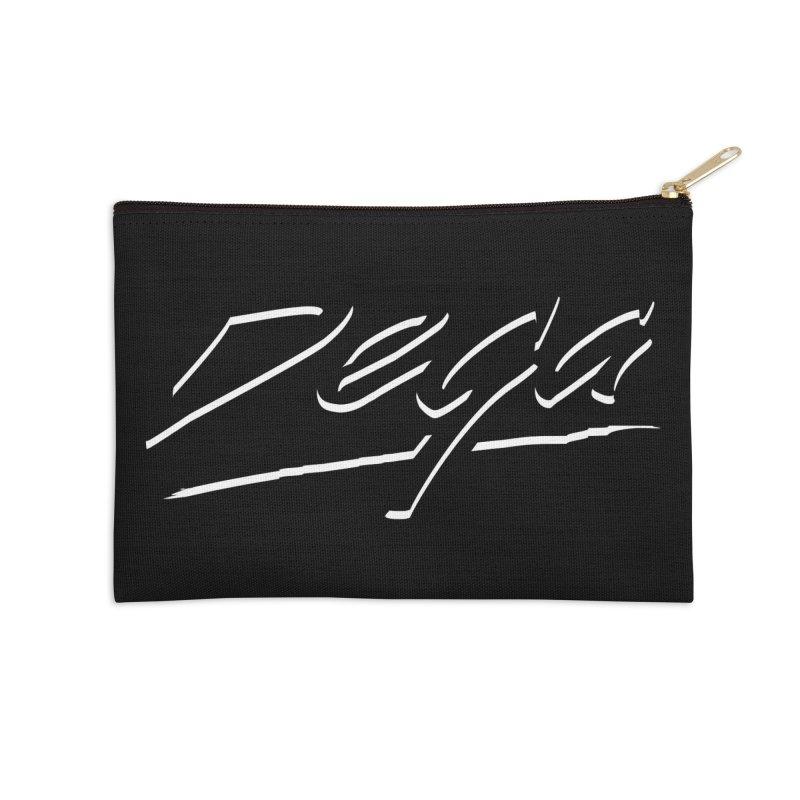 Dega Midnight Logo Accessories Zip Pouch by Dega Studios