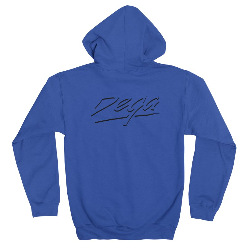 Dega Midnight Logo - Light Men's Zip-Up Hoody by Dega Studios