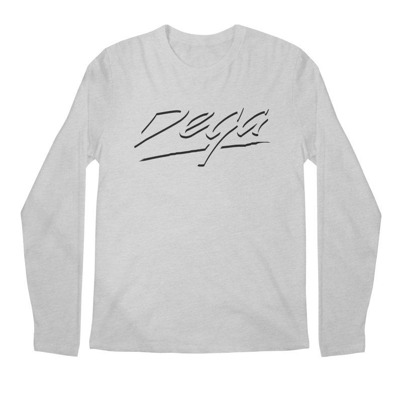 Dega Midnight Logo - Light Men's Longsleeve T-Shirt by Dega Studios