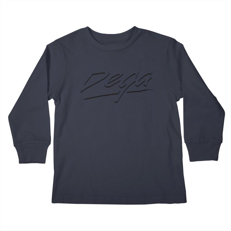 Dega Midnight Logo - Light Kids Longsleeve T-Shirt by Dega Studios