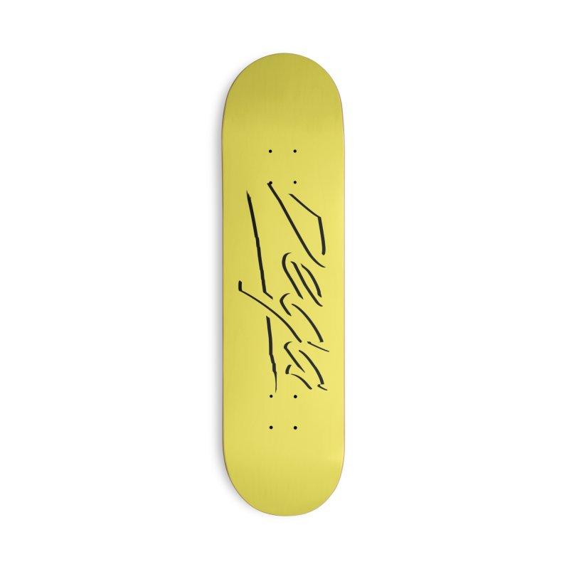 Dega Midnight Logo - Light Accessories Skateboard by Dega Studios