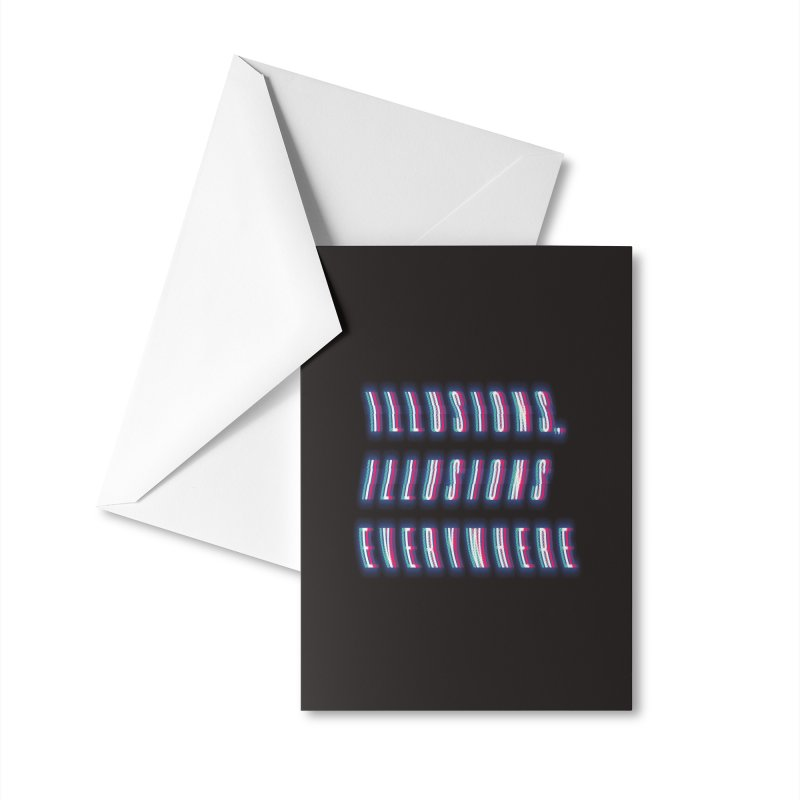 Illusions Everywhere Accessories Greeting Card by Dega Studios