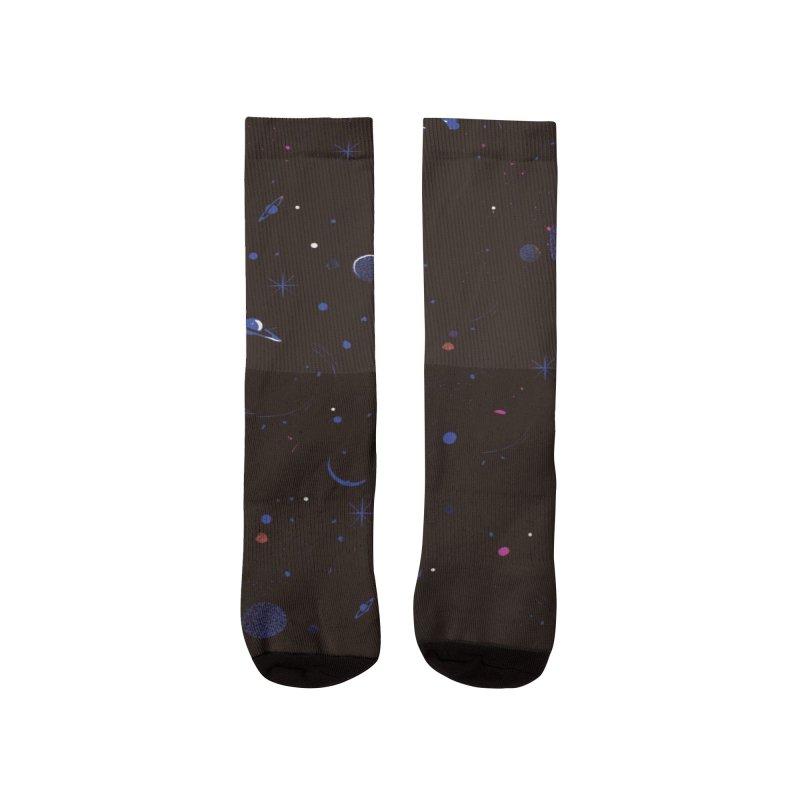 Dega Space Party Men's Socks by Dega Studios
