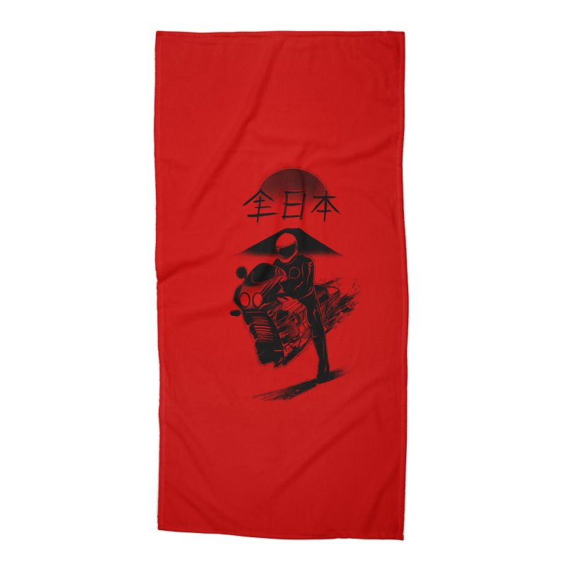 All Japan Autobike - LoFi Edition Accessories Beach Towel by Dega Studios
