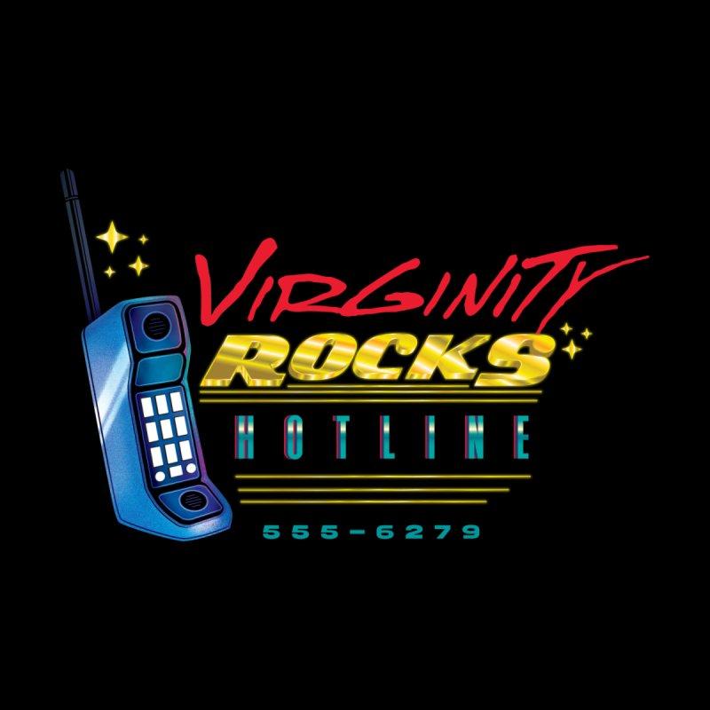 Virginity ROCKS Hotline Men's Zip-Up Hoody by Dega Studios
