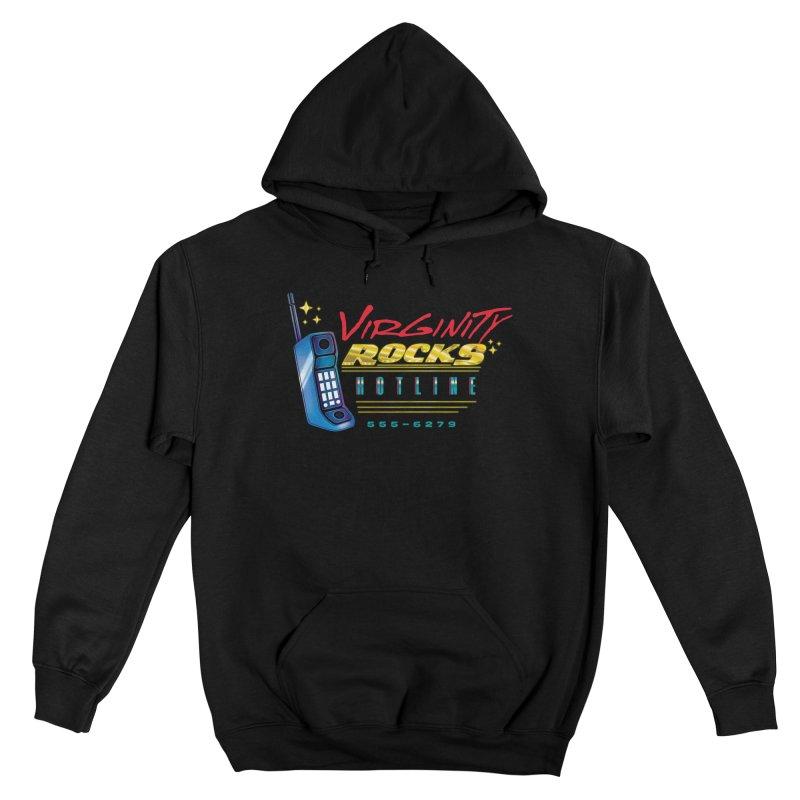 Virginity ROCKS Hotline Men's Pullover Hoody by Dega Studios