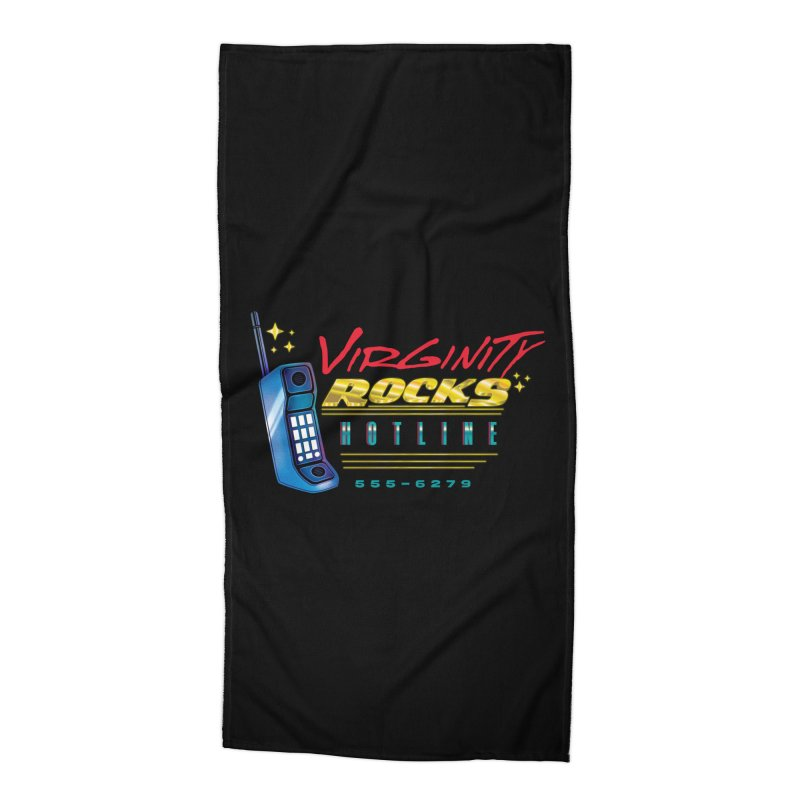 Virginity ROCKS Hotline Accessories Beach Towel by Dega Studios