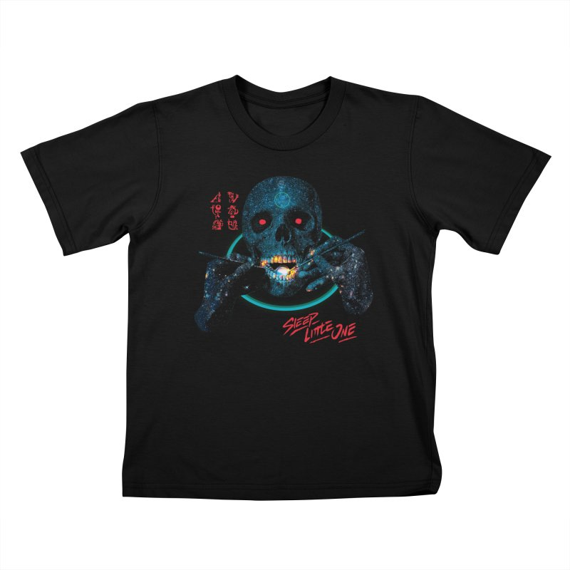 Sleep Little One Kids T-Shirt by Dega Studios