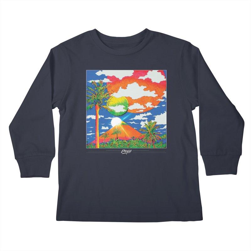 Elysian Fields Kids Longsleeve T-Shirt by Dega Studios
