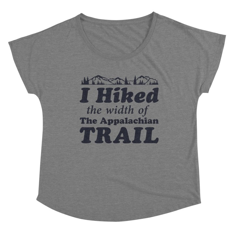 I Hiked (the width) Women's Scoop Neck by Dega Studios