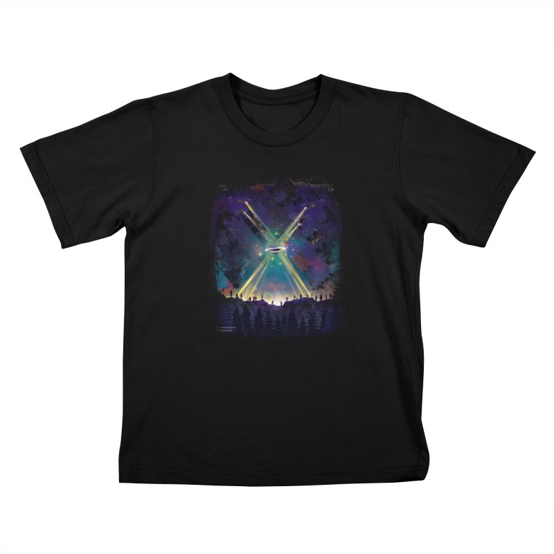 Black Helicopters Kids T-Shirt by Dega Studios