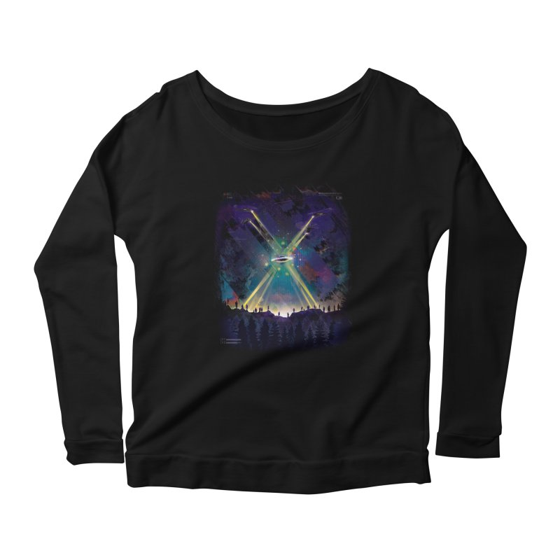 Black Helicopters Women's Scoop Neck Longsleeve T-Shirt by Dega Studios