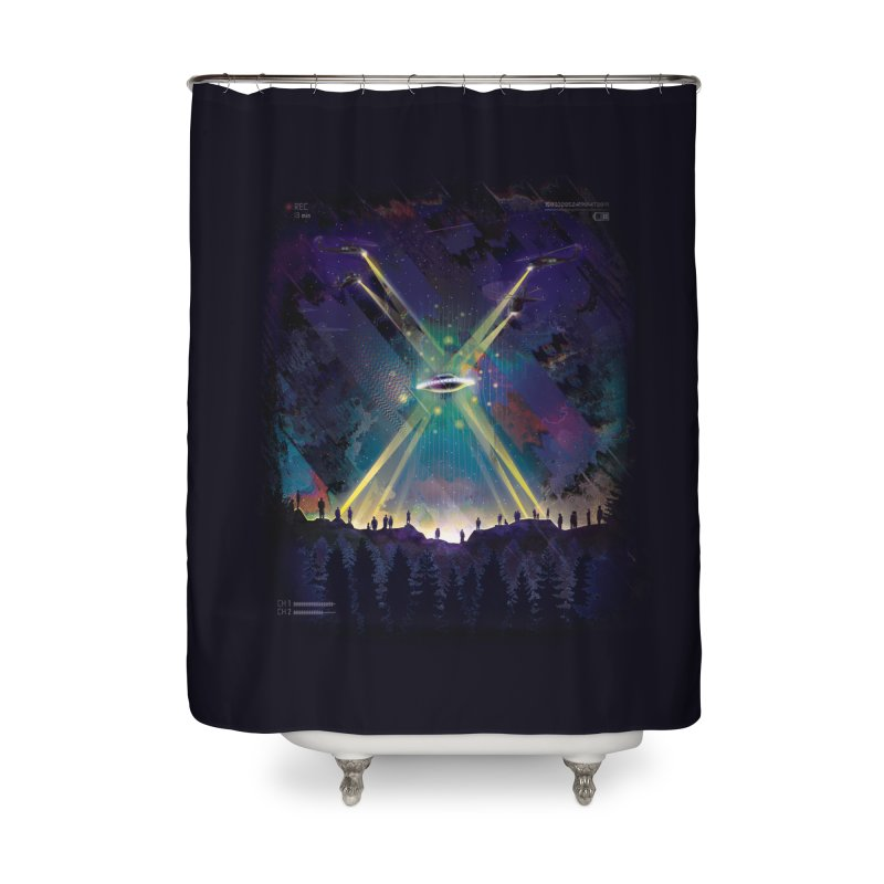 Black Helicopters Home Shower Curtain by Dega Studios