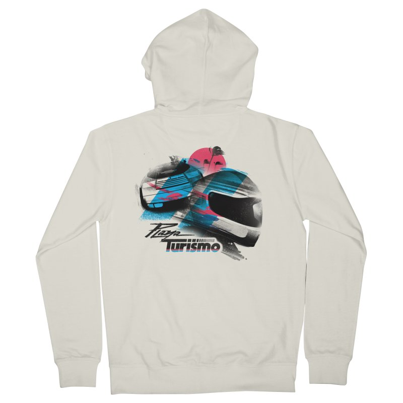Playa Turismo Men's French Terry Zip-Up Hoody by Dega Studios