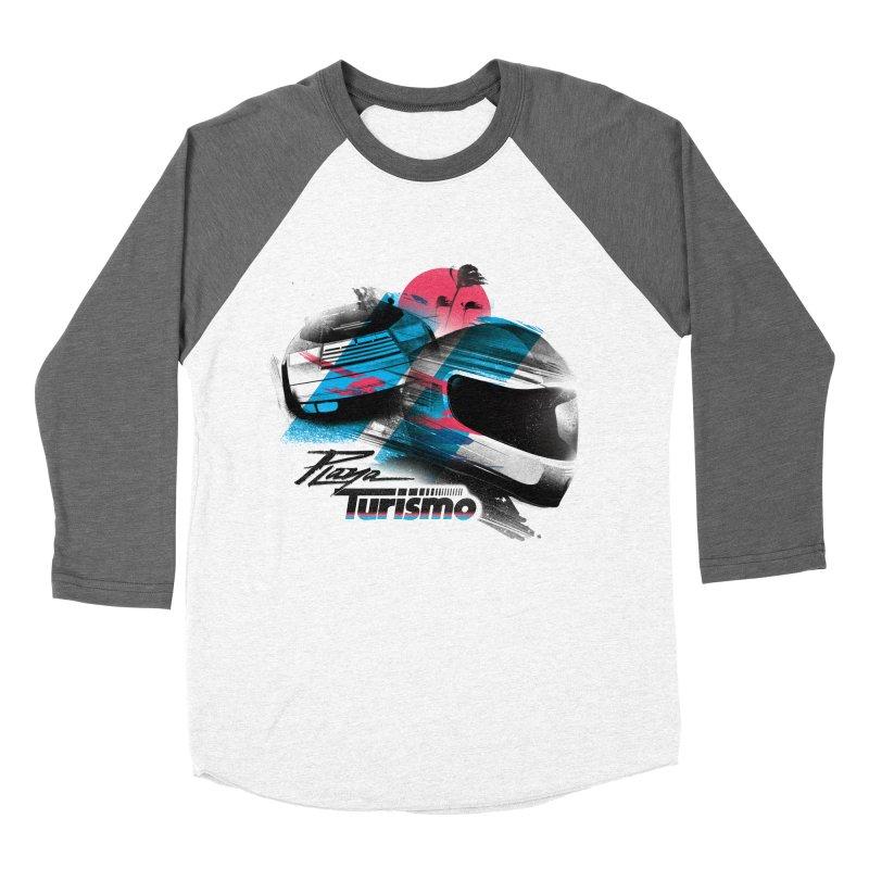 Playa Turismo Women's Baseball Triblend Longsleeve T-Shirt by Dega Studios