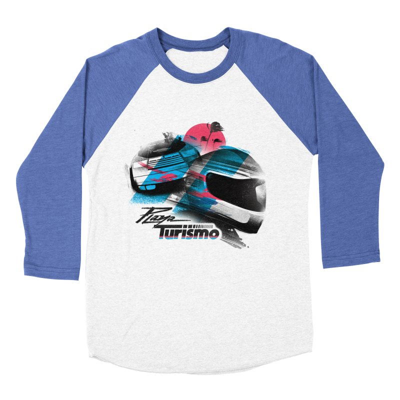 Playa Turismo Men's Baseball Triblend Longsleeve T-Shirt by Dega Studios