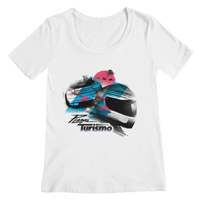 Playa Turismo Women's Scoopneck by Dega Studios