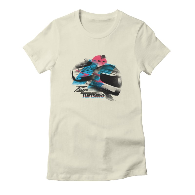 Playa Turismo Women's Fitted T-Shirt by Dega Studios
