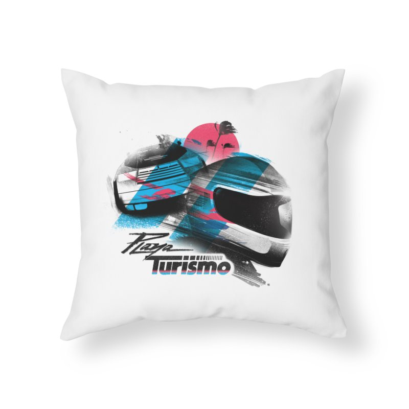 Playa Turismo Home Throw Pillow by Dega Studios