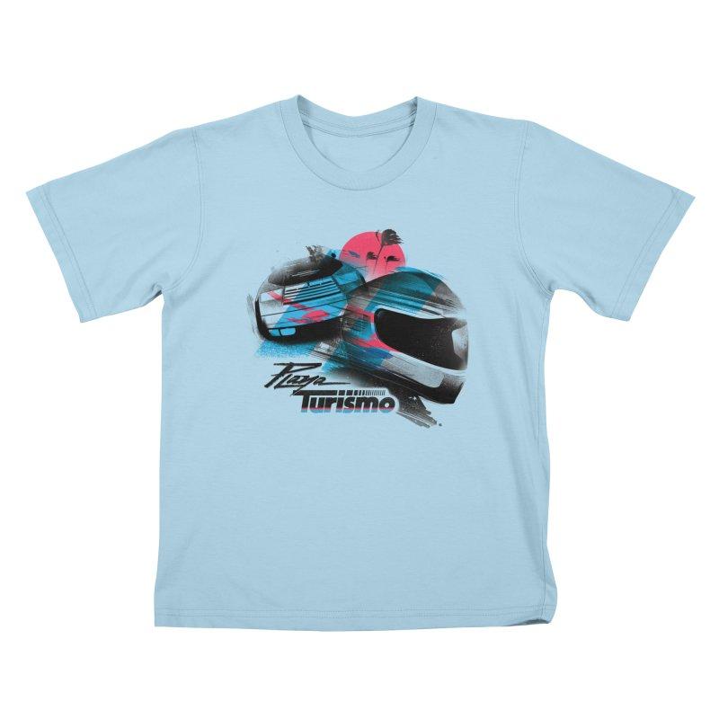 Playa Turismo Kids T-Shirt by Dega Studios