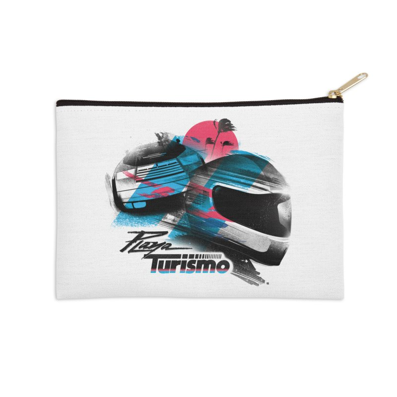 Playa Turismo Accessories Zip Pouch by Dega Studios