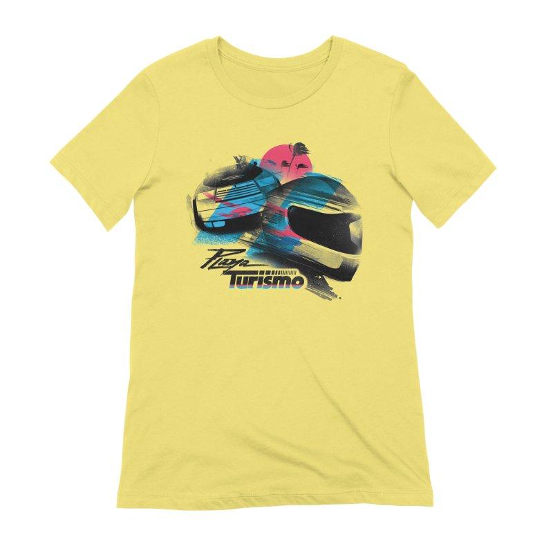 Playa Turismo Women's T-Shirt by Dega Studios
