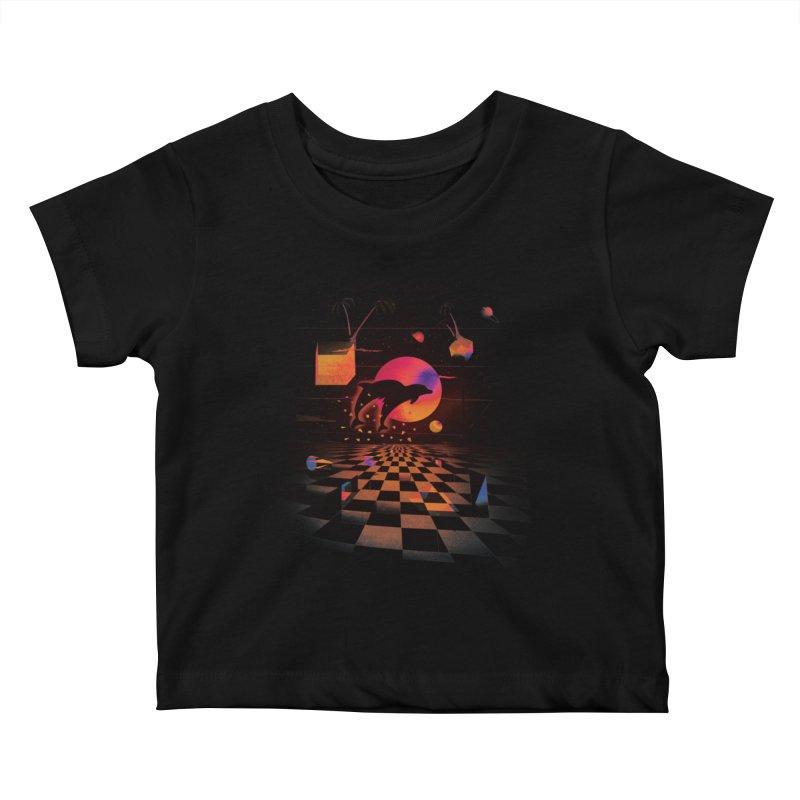 Kepler 307 - Midnight Edition Kids Baby T-Shirt by Dega Studios