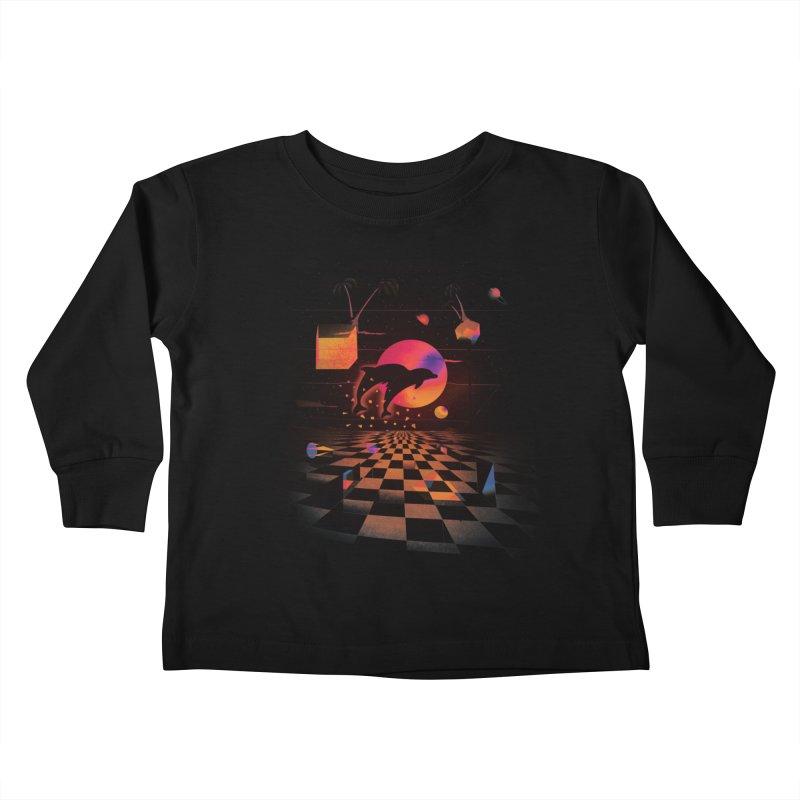 Kepler 307 - Midnight Edition Kids Toddler Longsleeve T-Shirt by Dega Studios