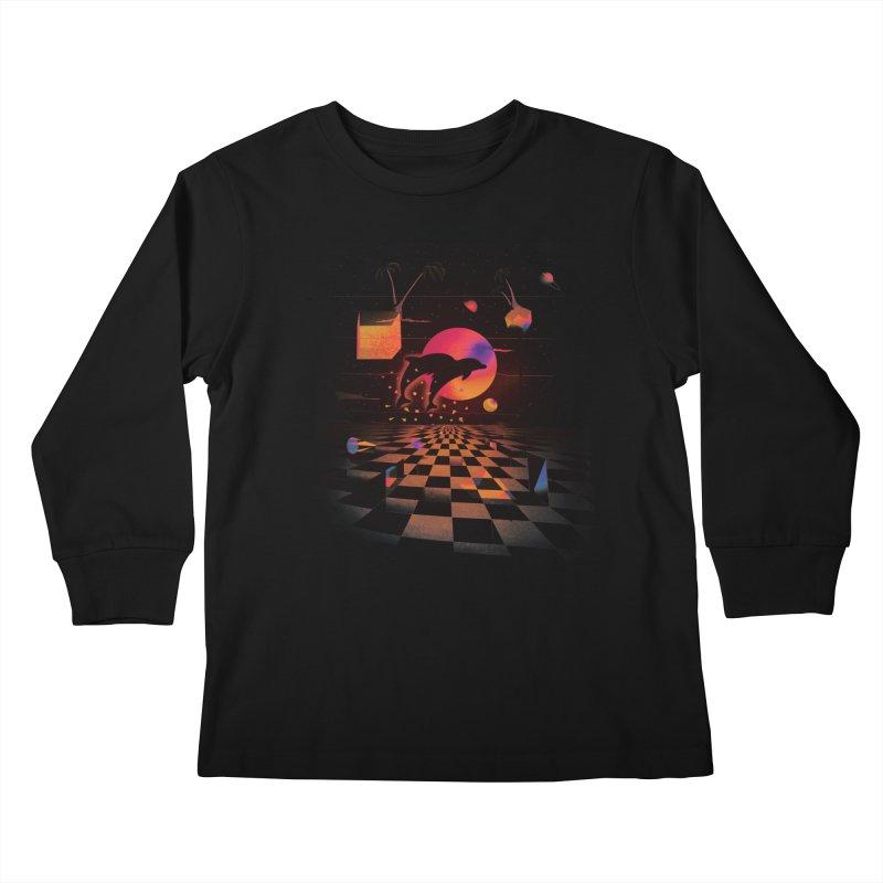Kepler 307 - Midnight Edition Kids Longsleeve T-Shirt by Dega Studios