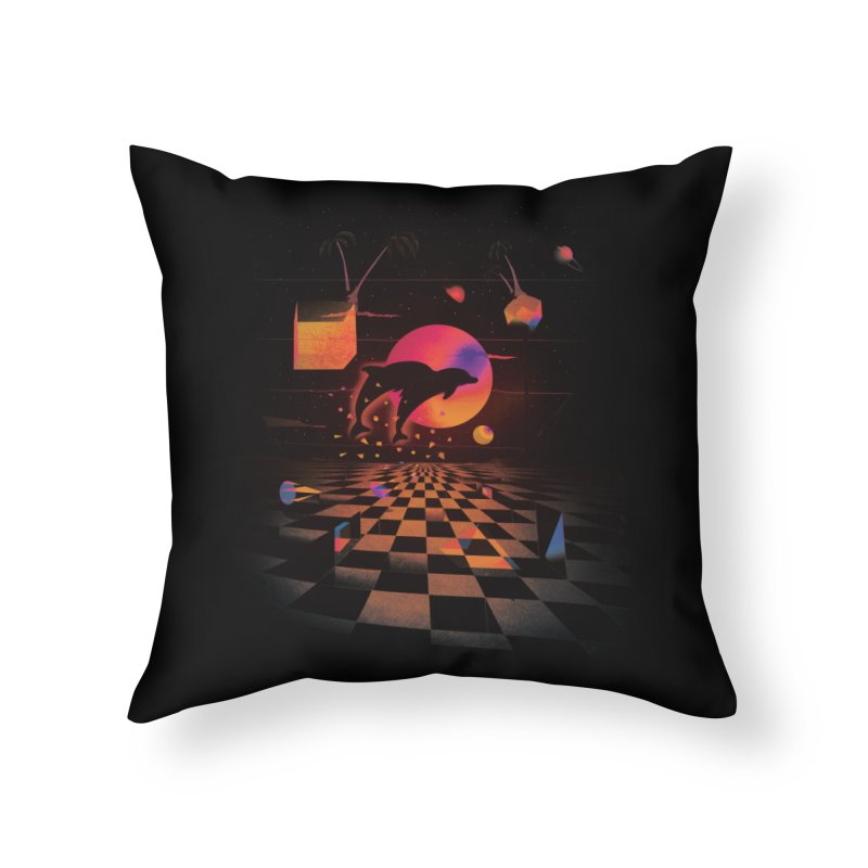 Kepler 307 - Midnight Edition Home Throw Pillow by Dega Studios