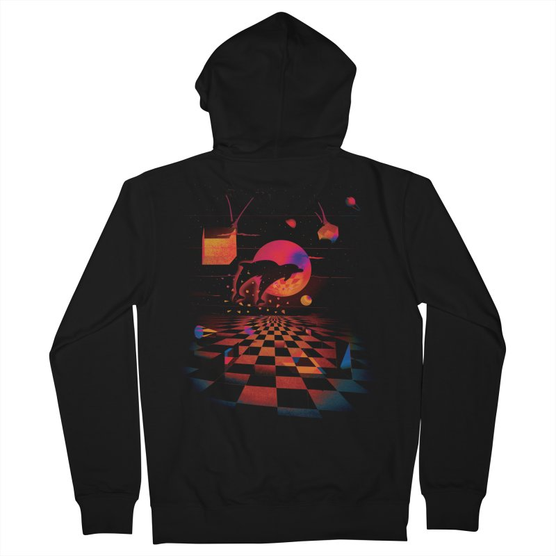Kepler 307 - Midnight Edition Men's French Terry Zip-Up Hoody by Dega Studios