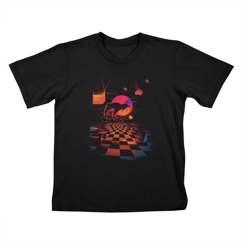 Kepler 307 - Midnight Edition Kids T-Shirt by Dega Studios