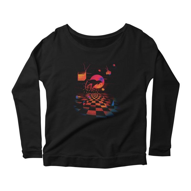Kepler 307 - Midnight Edition Women's Scoop Neck Longsleeve T-Shirt by Dega Studios