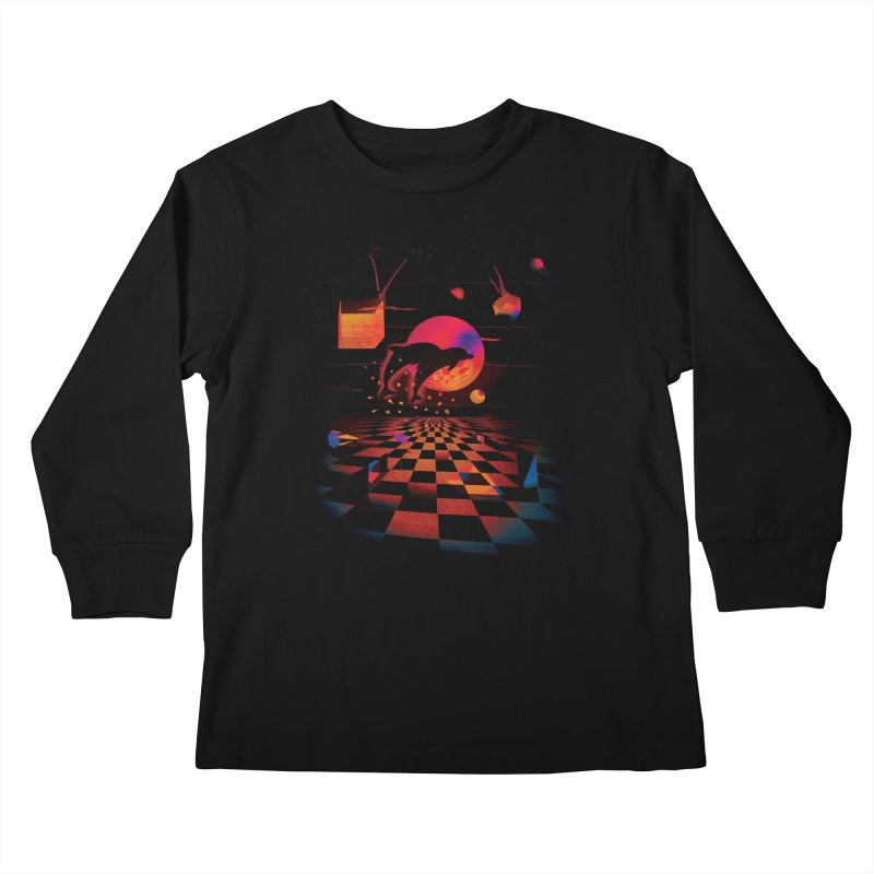 Kepler 307 - Midnight Edition Kids Longsleeve T-Shirt by Dega Studios