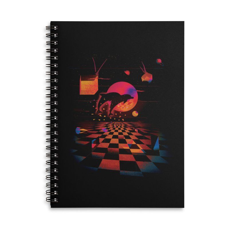 Kepler 307 - Midnight Edition Accessories Lined Spiral Notebook by Dega Studios