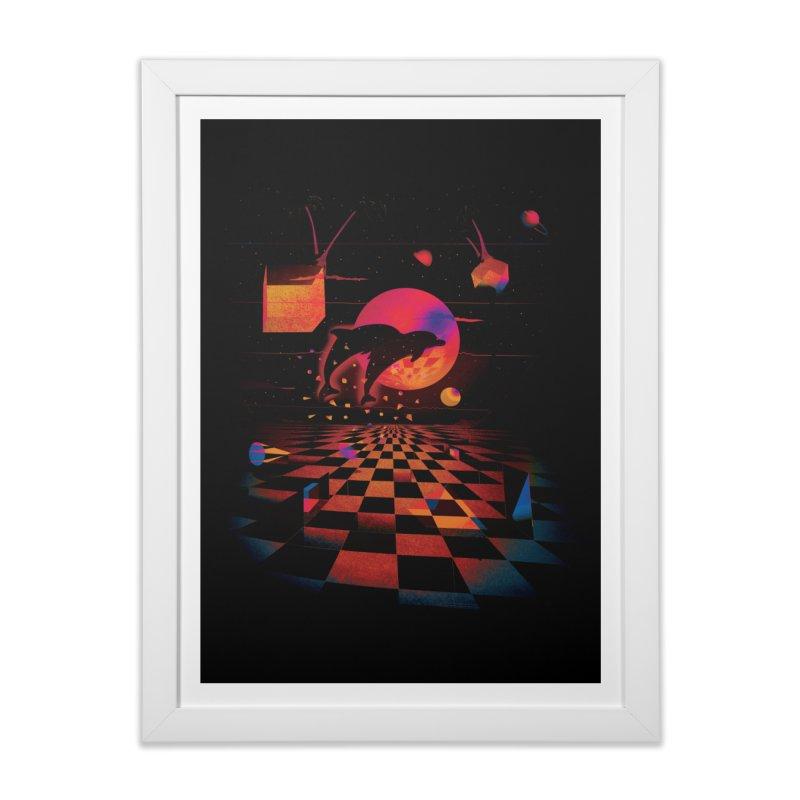 Kepler 307 - Midnight Edition Home Framed Fine Art Print by Dega Studios