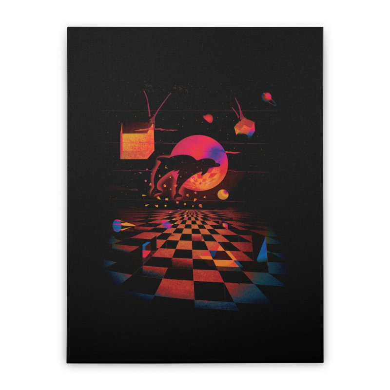 Kepler 307 - Midnight Edition Home Stretched Canvas by Dega Studios