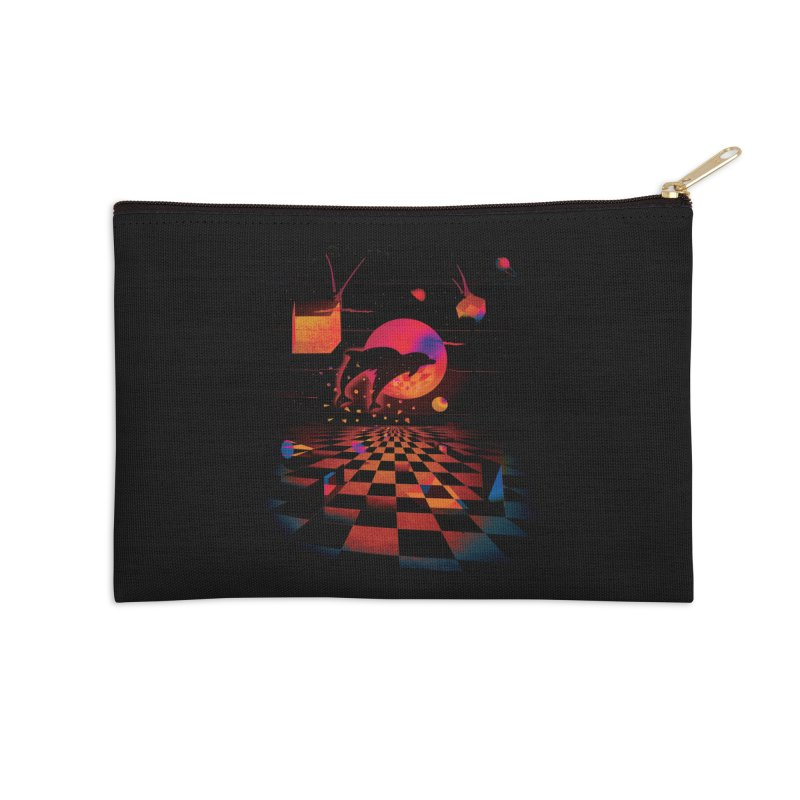 Kepler 307 - Midnight Edition Accessories Zip Pouch by Dega Studios