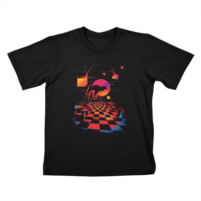 Kepler 307 - Midnight Edition Kids T-Shirt by Dega Studios