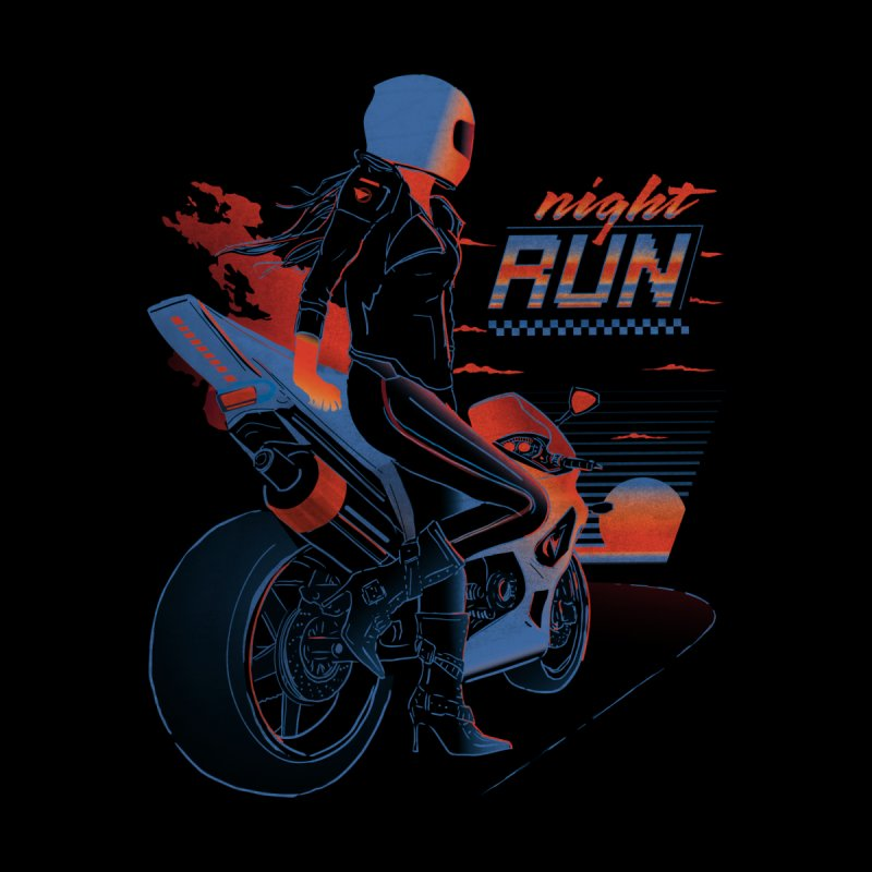 Night Run Kids T-Shirt by Dega Studios