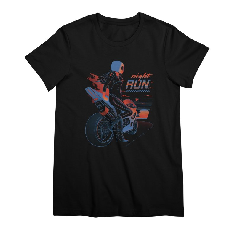 Night Run Women's Premium T-Shirt by Dega Studios