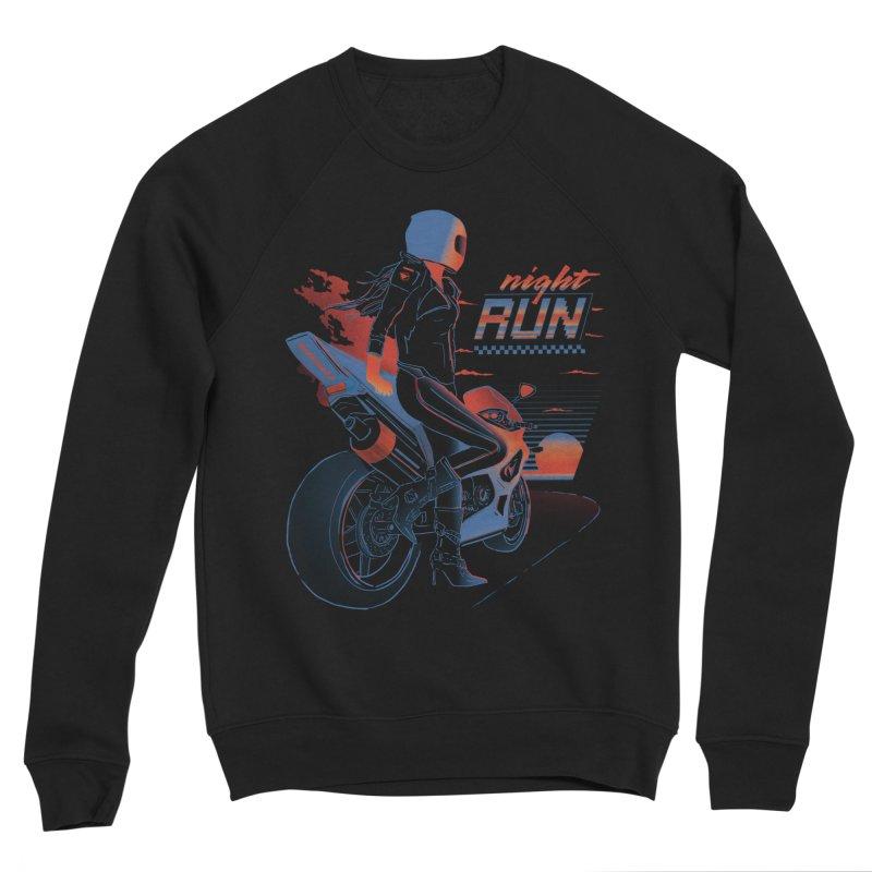 Night Run Women's Sponge Fleece Sweatshirt by Dega Studios
